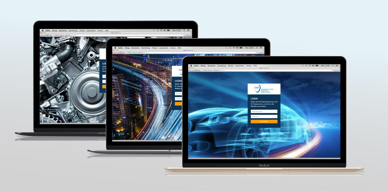 Unterschiedliche Ansichten der Website car e.V.