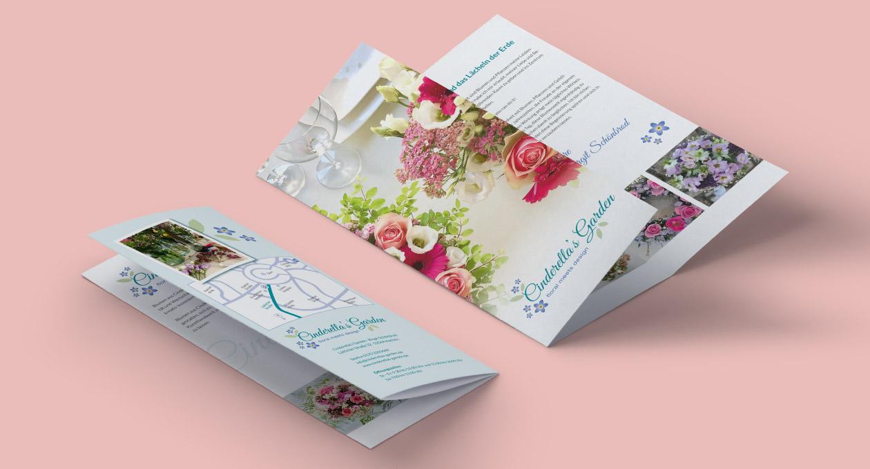 Flyer von Cinderella's Garden.