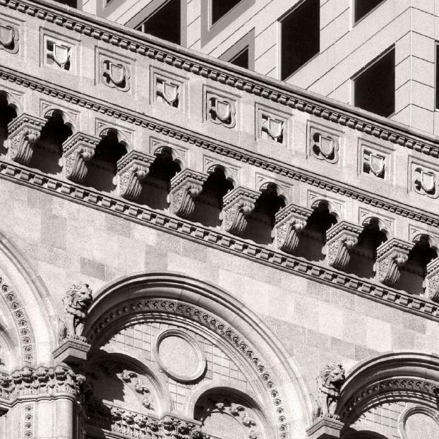 Nahaufnahme Gebäudearchitektur