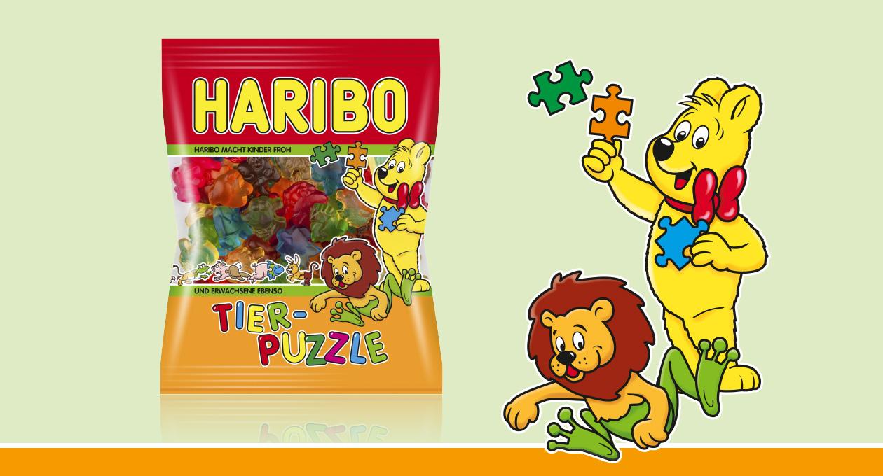 Haribo Tier-Puzzle.