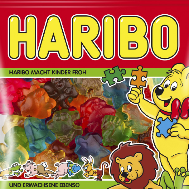 Haribo-Tüte Tierpuzzle
