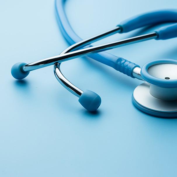 Blaues Stethoskop