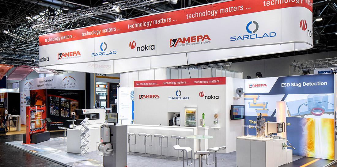 Nachdem etctera das neue Broschürenkonzept entwickelt hat, begleiteten wir AMEPA ebenfalls zur internationalen Fachmesse METEC 2019.