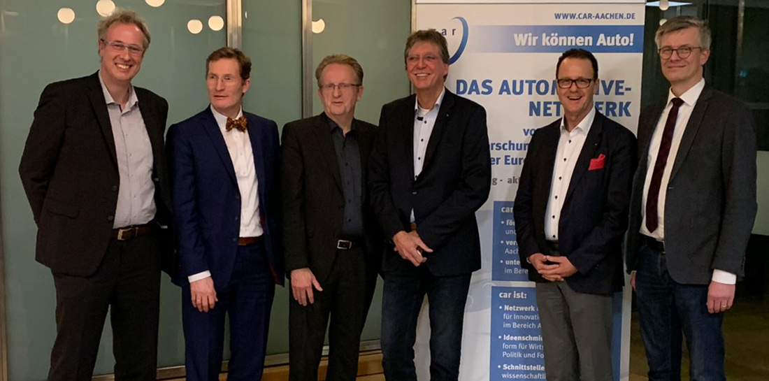 Neujahrsempfang von car e.V.. Prof.-Dr. Thilo Röth, Michael Bayer (IHK), Dr. Peter Wolters, Dr. E.A. Werner, Norbert Zimmermann, Tim Willers