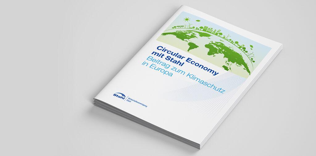 Broschüre der Wirtschaftsvereinigung Stahl zum Thema Klimaneutralität bis 2050.