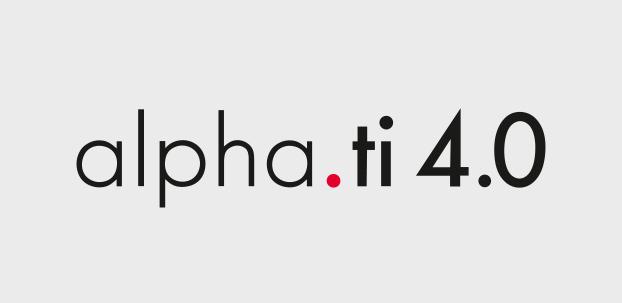 Schriftzug alpha.ti 4.0