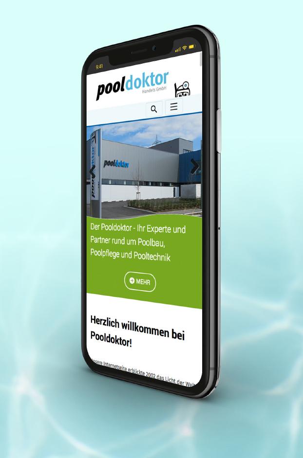 Pooldoktor Webdesign auf dem Smartphone.