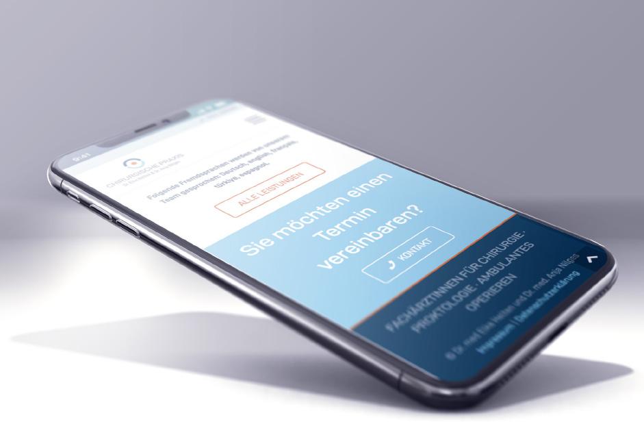 Ansicht der Website von Dr. Elke Helten und Dr. Anja Nilges auf dem Smartphone.