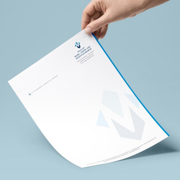 Briefbogen im Corporate Design von Dr. Dr. Mußhoff