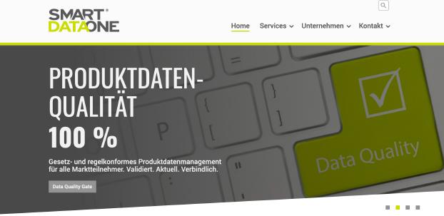 Ansicht der Website von SmartDataOne.