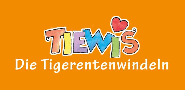 Logo Tiewis. Die Tigerentenwindeln.