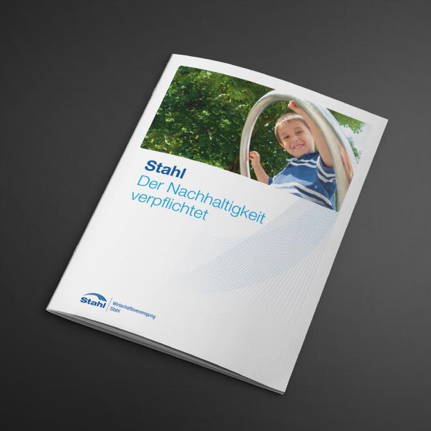 Broschüre: Wirtschaftsvereinigung Stahl. Der Nachhaltigkeit verpflichtet.