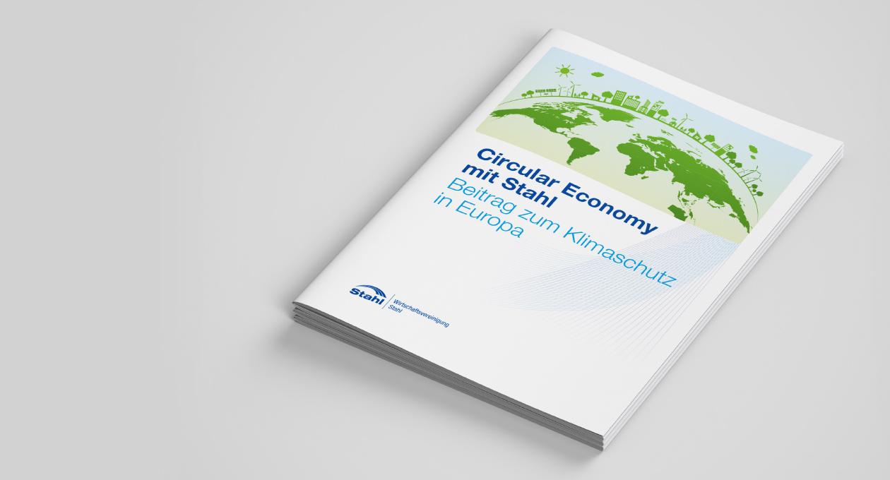 WV Broschüre Circular Economy mit Stahl. Beitrag zum Klimaschutz in Europa.