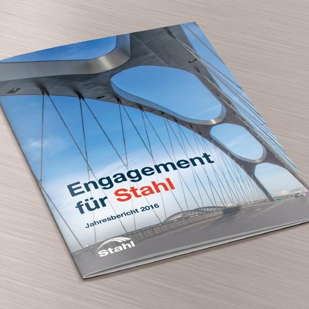 Broschüre: Engagement für Stahl. Jahresbericht 2016.